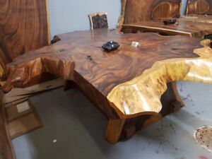 Unique live edge dining room/ boardroom table