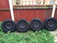 4 x 15' steel wheels with ContiPrem5 tyres