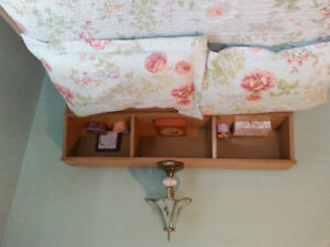 Headboard, 3/4 size bed, dressor and mirror