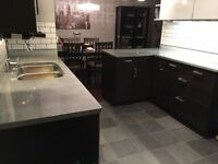 Concrete countertops & fireplace surrounds