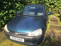 Vauxhall Corsa 1.2 SXI 2001 first to view will buy