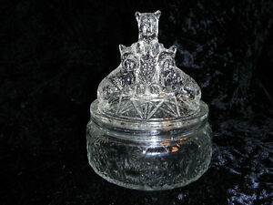 "Glass Scottish Terrier Jar, ""My Pets"", 1937."