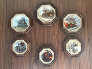 Ted Xaras Train Collector's Plates Framed