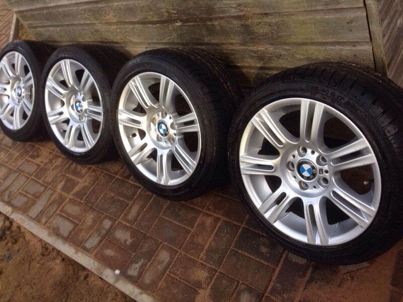 Genuine Bmw 3 Series M Sport E90 E91 E92 E46 17 Quot Alloy Wheels And Runflat Tyres In Hemel