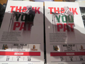 2 Halifax Mooseheads Tickets-Feb.27th @7PM