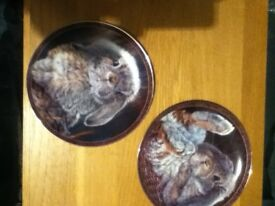 Limited edition plates welsh dancing lady made of coal