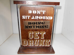 FUNNY WOODEN SIGN.