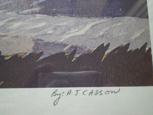 """A.J. Casson - """" Bobcaygon """" Limited Edition Print Kitchener / Waterloo Kitchener Area image 6"""