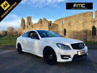 2012 Mercedes-Benz C180 AMG Sport Auto BlueEfficancy **Pearl White Red Leather**