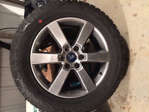 4 Brand new Ford F-150 wheels and tires 275/55R20.  0 km.