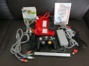 WII ROUGE (Compatible GameCube)