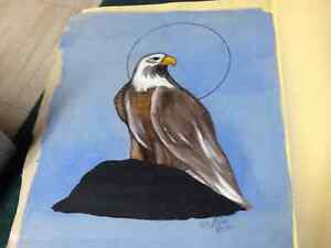 Eagle painting by Billy Brass