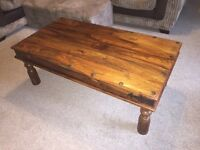 Beautiful sheesham Indian jali wood rosewood coffee table