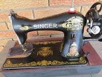 SINGER ANTIQUE HAND OPERATED SEWING MACHINE