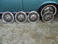 SET OF FOUR WIRE WHEEL COVERS