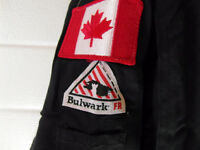 42-48 and 50 reg. Flame Retardant Coveralls and Win. work coats