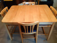 Solid Birch Kitchen Table and 4Chairs