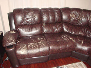 recliner, coffee table