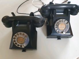 2 No Bakelite Telephones - 1 Working