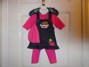 New Outfits For 0-3 and 3-6 Months Old Baby Girls or For Dolls