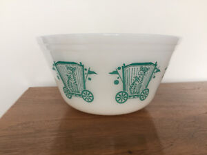 Bol ** Vintage Federal Glass *** Circus Themed Mixing Bowl
