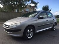 PEUGEOT 206 HDI DIESEL CAR 5 DOORS JANUARY 2017 MOT