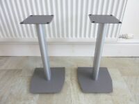 Alphason Loudspeaker Hi Fi Stands Cable Tidy 45cm Height Satin Silver