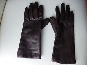 Gants de cuir brun pour femme
