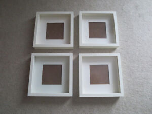 4 White Frames (shaddow boxes)