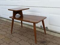 Table de salon avec bois de teck scandinave vintage antique