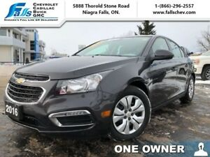 2016 Chevrolet Cruze Limited LT  REARCAM,REMOTE START,LOW KMS,ON