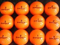 Mixed Brand Mixed Model Golf Balls ( Orange) x 50. Pearl Condition