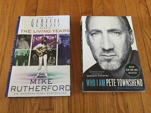 Genesis and The Who Books