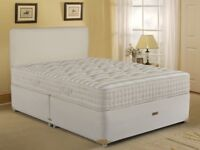 🌷💚🌷 HIGH QUALITY 🌷💚🌷BRAND NEW DOUBLE DIVAN BED WITH 2000 POCKET MATTRESS HEADBOARD OPTIONAL