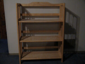 Solid Maple Book Shelves.