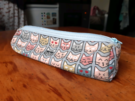 Pencil case cat pattern