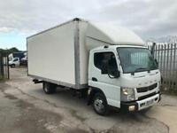 2014 Mitsubishi fuso Canter 3c13 6 speed 3500 kg 17 ft luton box van no vat