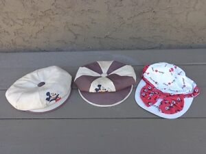 Three vintage Mickey Mouse Hats