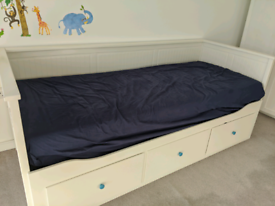 Ikea Hemnes Day Bed - a sofa, a single bed, a double bed and storage i