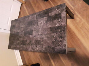 Laminated-marble coffee table
