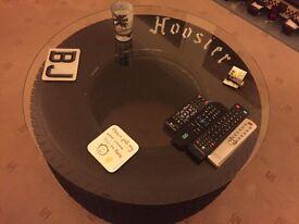 Drag Tyre Coffee Table, Rat Rod, American, Custom, Rockabilly, Retro Furniture