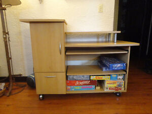 Rolling Desk in Good Condition