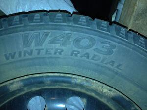 225/60 r16 winter tires on rims