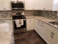 Flooring and tile work.