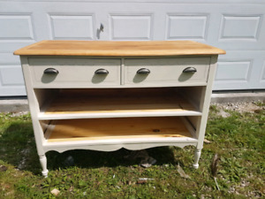 Island made from antique dresser