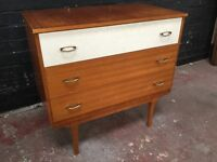 Beautiful vintage tree drawer chest of drawers