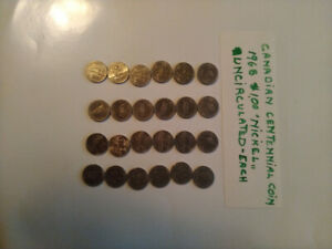 Canadian coins: Silver 50 25 5 cents centennial please see add