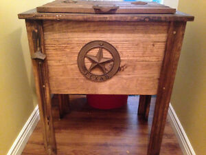 Rustic Wooden Patio Cooler - $85
