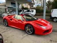 Ferrari 488 3.9T V8 Spider F1 DCT (s/s) 2dr Convertible Petrol Automatic