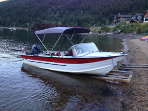 Starcraft 16 foot with a Mercury 85 hp outboard